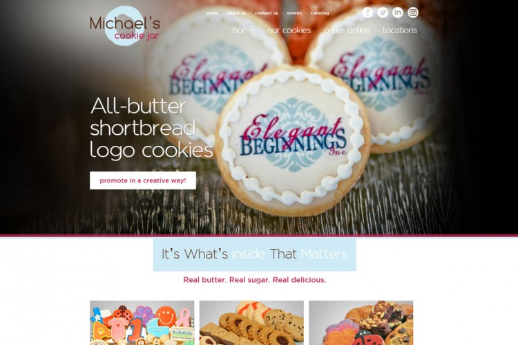 Michael's Cookie Jar Gorgeous Michael's Cookie Jar Site Design Development KWIRX Creative